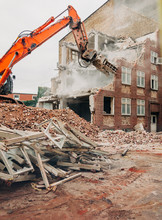 Demolition Of An Old Red Mason...