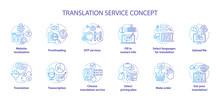 Translation Service Blue Conce...