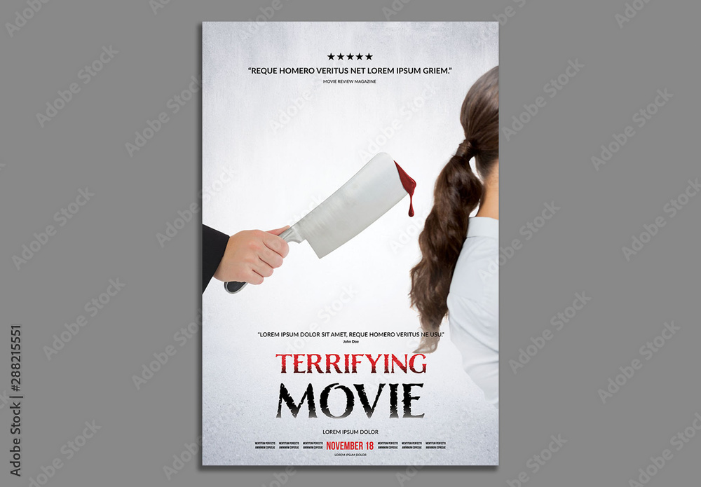 Fototapety, obrazy: Horror Movie Poster Layout