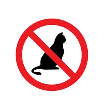 No Cat Sign Symbol
