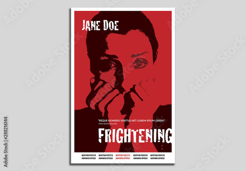 Horror Movie Poster Layout Buy This Stock Template And Explore Similar Templates At Adobe Stock Adobe Stock