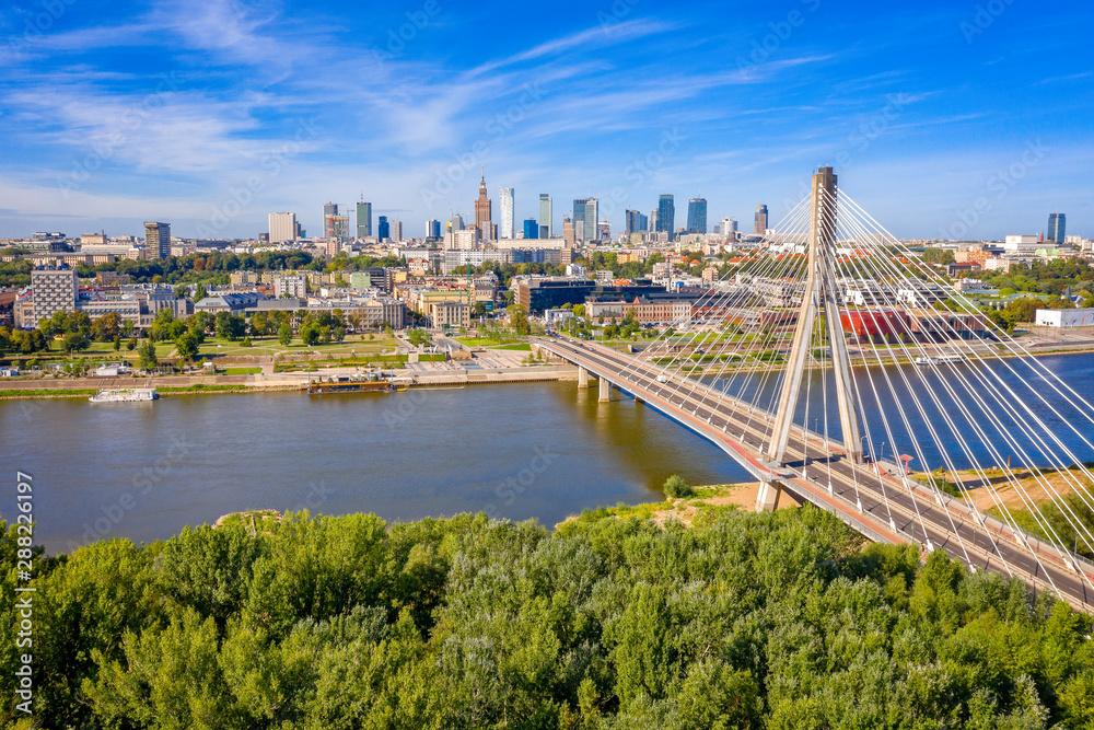 Fototapety, obrazy: City Center of Warsaw, Poland