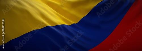Photo sur Toile Amérique du Sud Official flag of Colombia. Web Banner