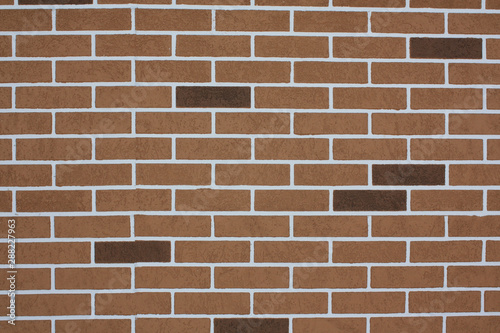 Decorative Brick Wall In Shades Of Brown