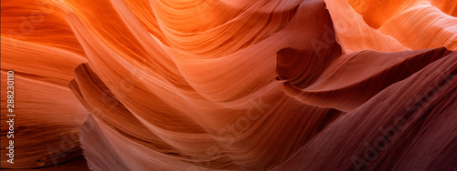 Photo Scenic canyon Antelope near page Arizona, slot canyon, USA