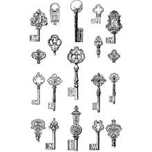Antique Set Of Key Vectors Isolated On White Background