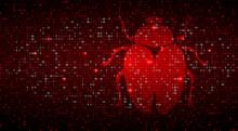 Digital Binary Code On Dark Re...