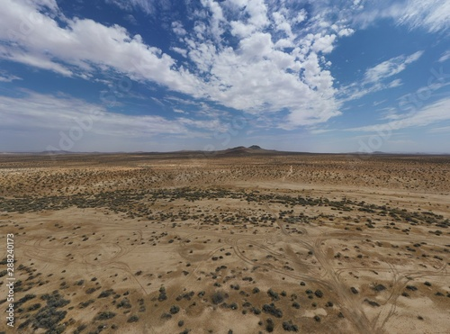 Mojave Desert Landscape on a cloudy day
