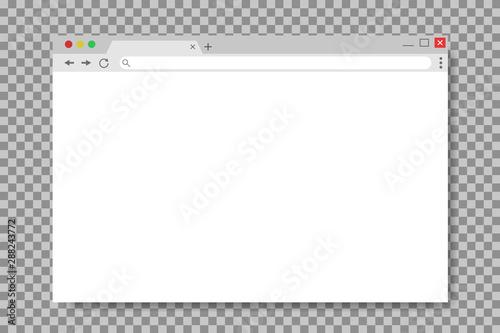 Fotografía  Browser window in mockup style