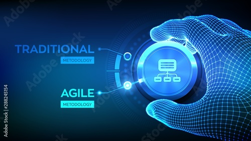 Photo Agile software development methodology concept