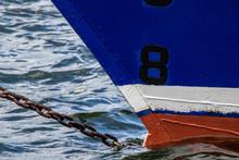 Bow Of A Tall Ship At Anchor