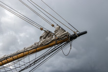 Bowsprit On A Wooden Tall Ship