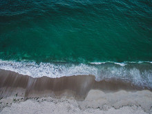 Drone View Of Waves Crashing