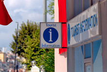 Tourist Information Sign With ...