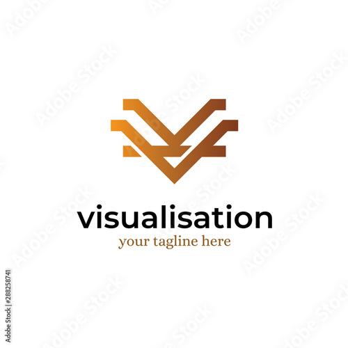 Photo Letter V Anagram Logo