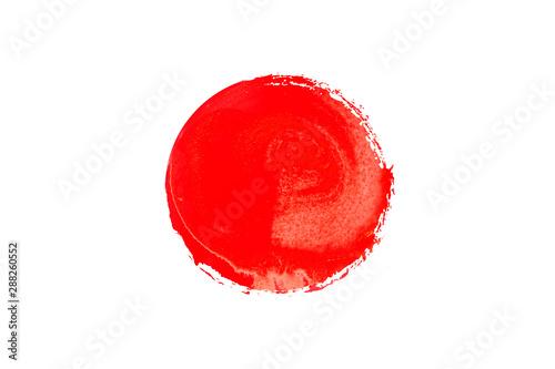 Fotomural  赤い絵の具で描いた丸