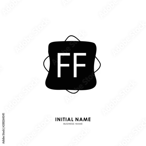 Photo F FF Initial logo letter with minimalist concept