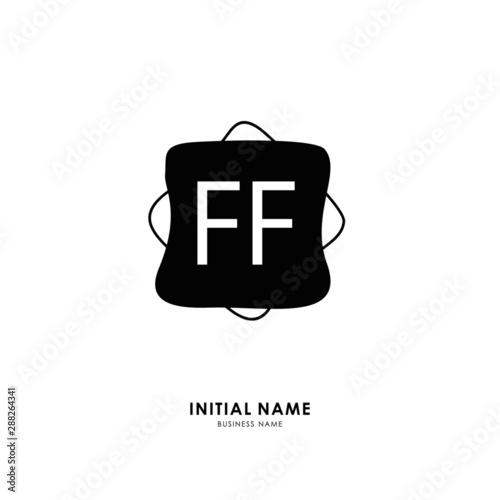 F FF Initial logo letter with minimalist concept Tapéta, Fotótapéta