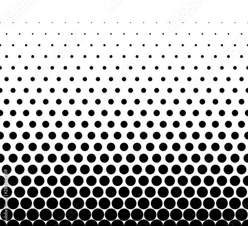 Fototapeten Künstlich Seamless halftone vector background.Average fade out.Black circles.