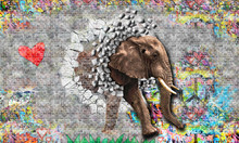Graffiti On A Wall An Elephant...