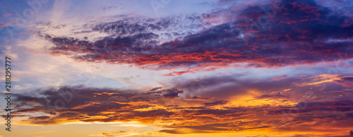 Aluminium Prints Heaven Scenic View Of Dramatic Sky During Sunset