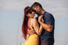 Young Couple Dancing Latino Da...