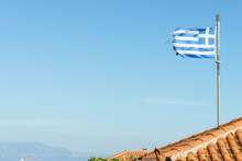 Greek Flag Waving O Wind.