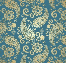 Traditional Paisley Floral Pat...