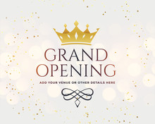 White Grand Opening Banner Wit...