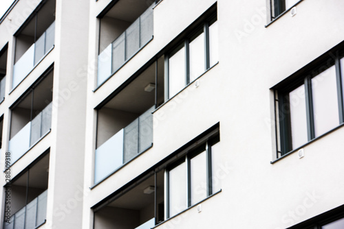 Türaufkleber Darknightsky Modern block of flats , Luxury Apartment Building.