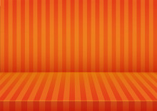 Halloween Orange Striped Room ...