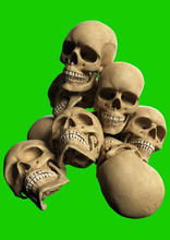 Render Of Pile Of Skulls