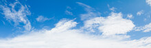 Panoramic Blue Sky And Clear Cloud  In Summertime Beautiful Background