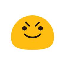 Mischievous Emoji Face Vector