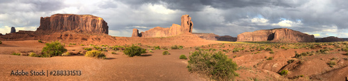 Taupe Panoramic view of Monument Valley National Park, USA