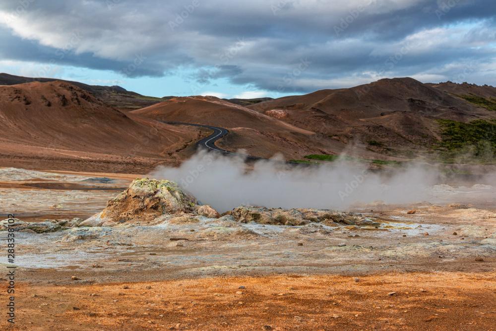 Fototapeta sulfur field iceland