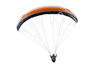 Beautiful Paraglider In Flight...