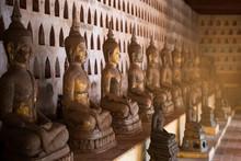 Old Buddha Statue In Wat Sisak...