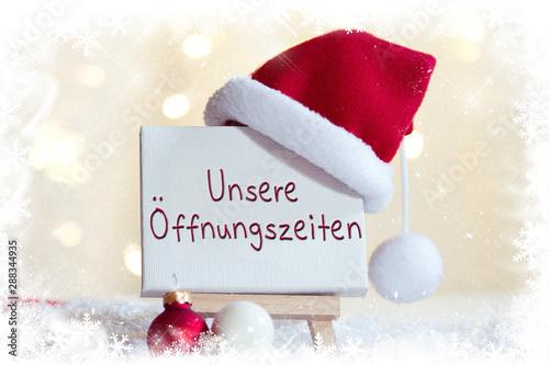 Fototapeta Unsere Öffnungszeiten an Weihnachten