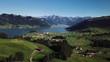 Beautiful Aerial Video of Lake Sihlsee in Switzerland