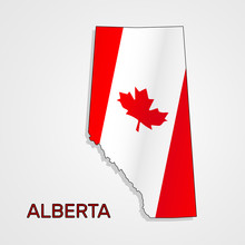 Map Of Alberta Combined With C...