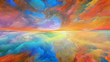 canvas print picture - Advance of Abstract Landscape