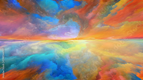 Advance of Abstract Landscape - 288366981