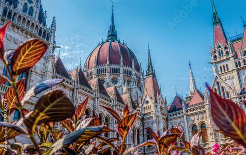 Gothic old building of the Hungarian parliament, Budapest Canvas Print