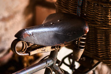 Old And Rusty Bicycle Saddle