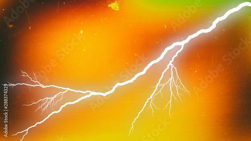 Fototapeta Red Yellow and Green Lightning Background Design obraz na płótnie
