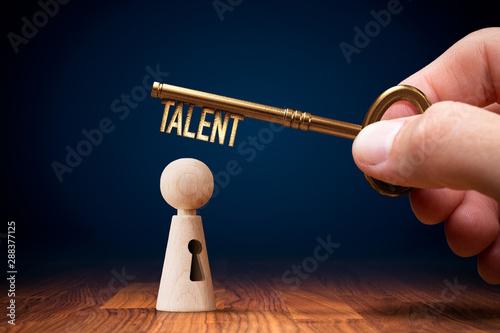 Fotografía Key to unlock and open your talent