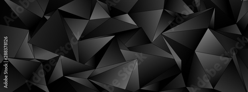 3d Triangles, abstract  background. Design wallpaper. - 288378126