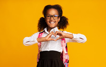 African American Schoolgirl Sh...