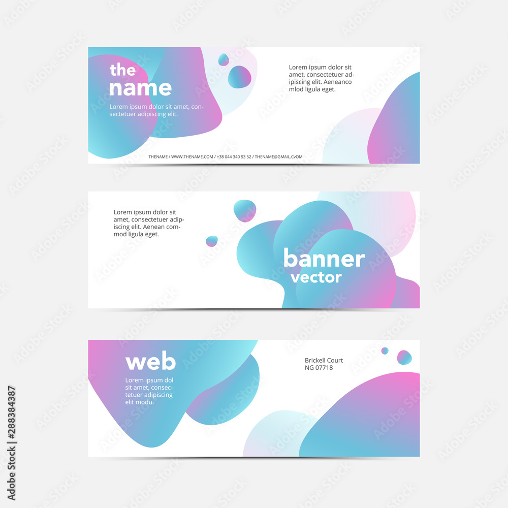 Fototapety, obrazy: Set of modern abstract vector brochure ready for use to your technology business event.